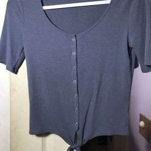 Aeropostale Grey/Blue button up top